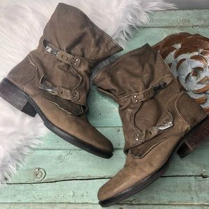 Sam Edelman Boots Size 8 Brown Side Zip RIDGE